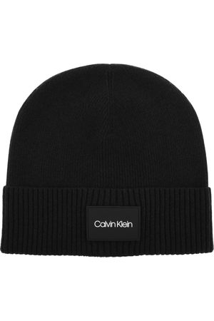 Calvin Klein Patch Ribbed Beanie Hat