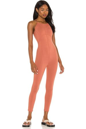 Free People X FP Movement Side To Side Onesie in Coral.