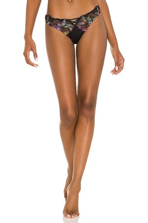 fleur du mal Butterfly Embroidery Thong in .