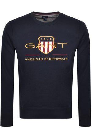 Gant Men Sweatshirts - Archive Shield Logo Sweatshirt Navy
