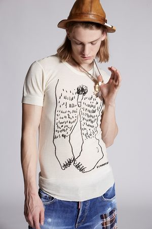 Dsquared2 Men Short sleeve t-shirt Ivory