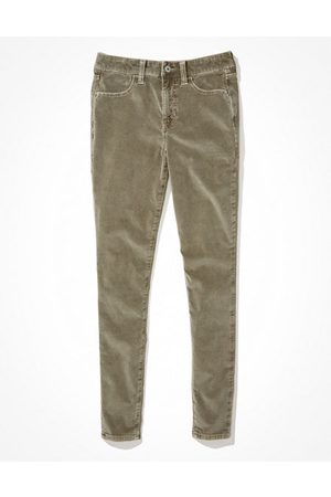 AE Women Stretch Pants - Stretch Corduroy High-Waisted Jegging Women's 14 X-Long
