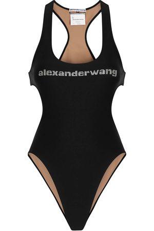 Alexander Wang Logo cut-out swimsuit