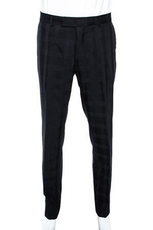 HUGO BOSS Check Patterned Wool Pants L