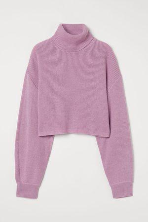 H&M Women Turtlenecks - Cropped Turtleneck Sweater