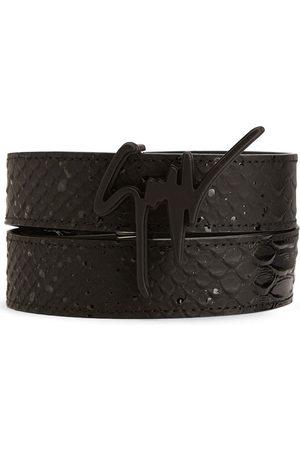 Giuseppe Zanotti Men Belts - Logo-plaque leather belt