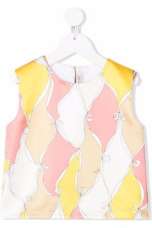 Emilio Pucci Junior Girls Blouses - Bow-print blouse