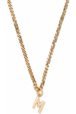 Msgm M letter pendant necklace
