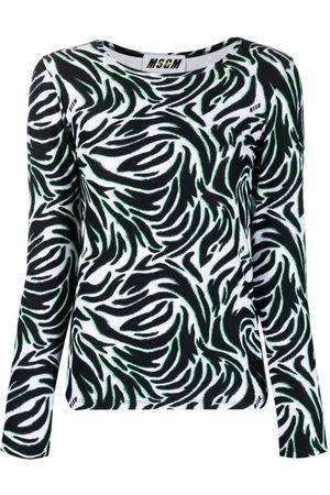 MSGM Women Long Sleeve - Graphic-print long-sleeve top