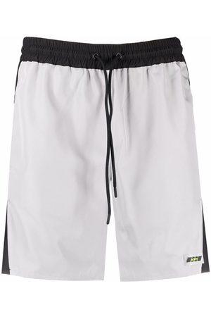 MSGM Men Shorts - Two-tone drawstring shorts - Grey