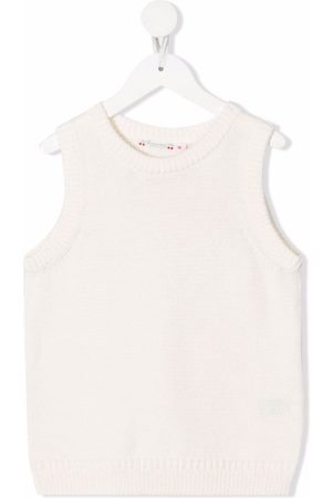 Bonpoint Girls Tank Tops - Organic cotton knitted vest