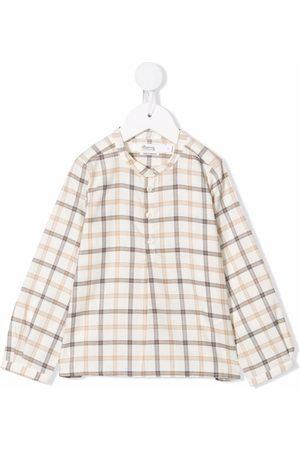 Bonpoint Shirts - Check-print button-front shirt - Neutrals