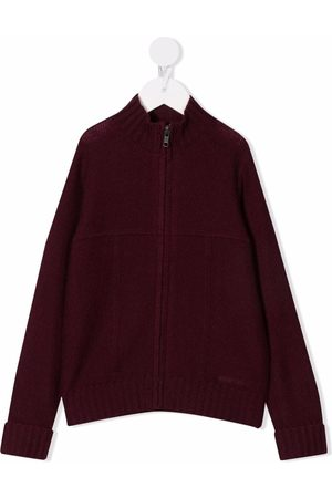 Bonpoint Boys Turtlenecks - High neck zip-up cashmere jumper
