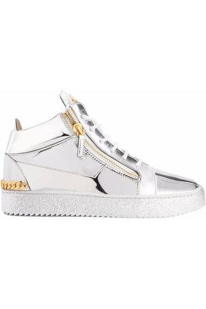Giuseppe Zanotti Frankie chain-link sneakers - Grey