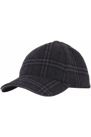Burberry Check patter logo cap - Grey