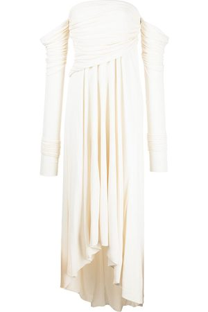 KHAITE The Nerissa off-shoulder dress - Neutrals
