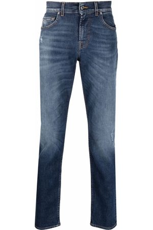 7 for all Mankind Men Straight - Faded regular-cut jeans
