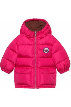 Gucci Kids Puffer Jackets - Padded logo-patch hooded coat