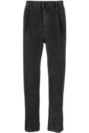 Altea Men Skinny Pants - Slim-fit velvet trousers - Grey