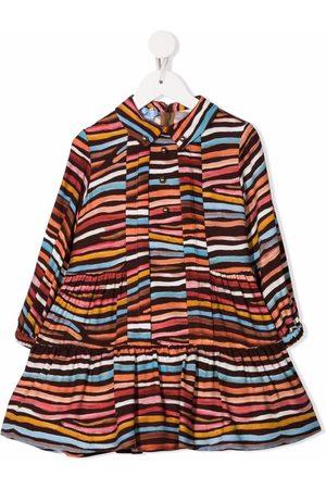 Mi Mi Sol Girls Casual Dresses - Striped tiered dress