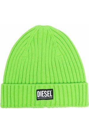 Diesel Beanies - Logo-patch beanie