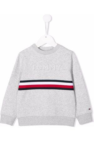 Tommy Hilfiger Logo-print crew neck sweatshirt - Grey