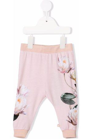 Molo Kids Floral-print track pants