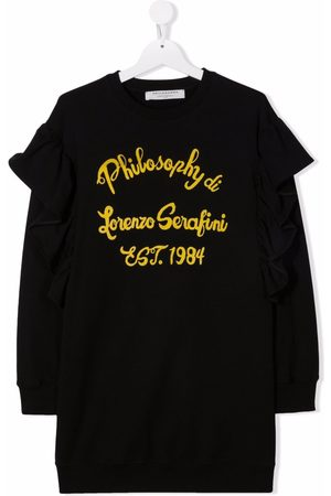 Philosophy Di Lorenzo Serafini Kids TEEN logo-print sweater dress