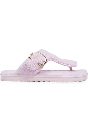 Coach Women Flip Flops - Hollie Shearling Flip-Flop Sandals