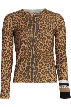 VALENTINO Maglia Leopard Print Sweater