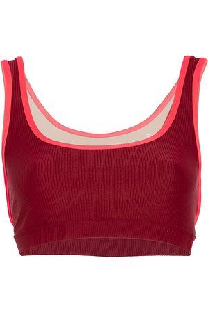 Heroine Crescent Rib-Knit Sports Bra