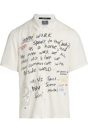 KSUBI Homework Graphic-Print Short-Sleeve Shirt