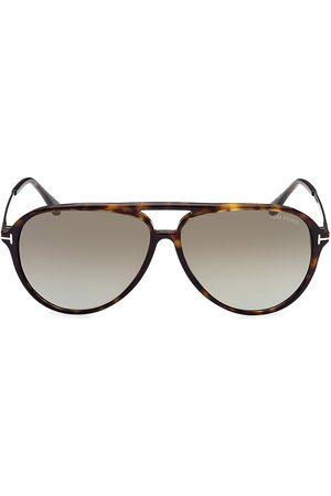 Tom Ford Samson Havana 62MM Pilot Sunglasses