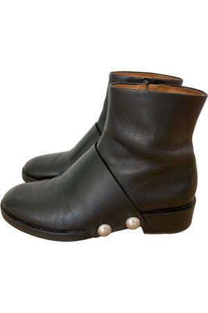 Alexander Wang Leather biker boots