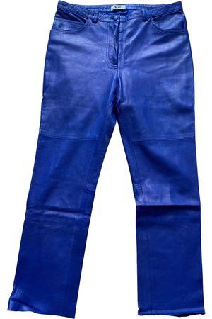Acne Studios Leather slim pants