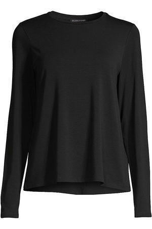 Eileen Fisher Crewneck Long-Sleeve Top