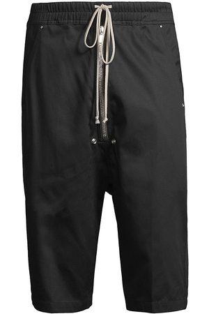 Rick Owens Bella Cotton Twill Longline Shorts