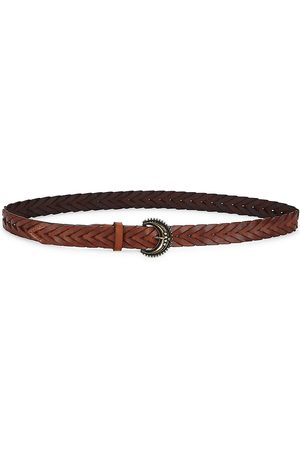 VERONICA BEARD Leo Braided Leather Belt