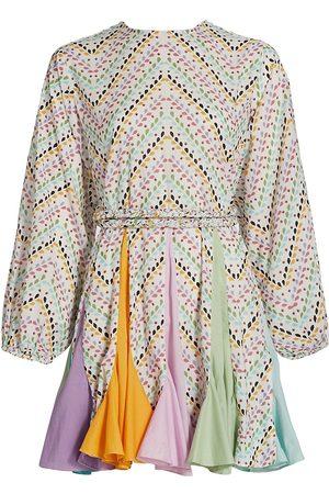 Rhode Ella Embroidered Chevron A-Line Dress