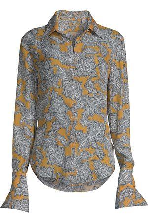 Robert Graham Gabriella Paisley Floral Print Shirt