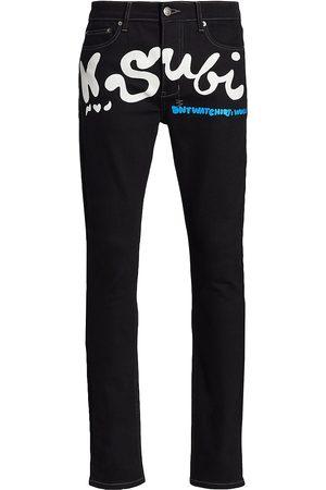 KSUBI X Hidji Logo-Print Slim-Fit Jeans