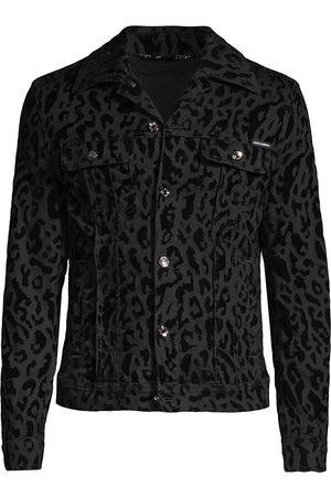 Dolce & Gabbana Leo Flocked Denim Jacket