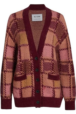 RE/DONE 90s Alpaca-Blend Plaid Cardigan