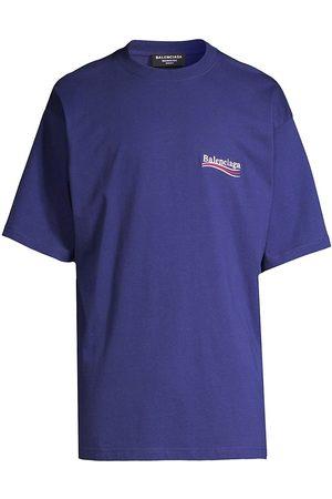 Balenciaga Oversize Campaign Logo Cotton T-Shirt