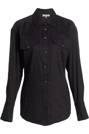 Frame Arie Linen-Blend Shirt