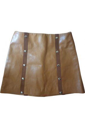 De La Vali Leather mini skirt