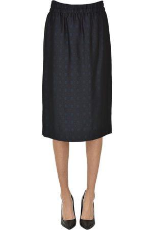 Dries van Noten Printed viscose-blend skirt