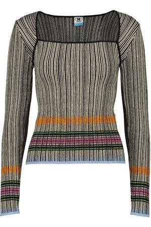 Missoni Womens Long Sleeve Fancy Neck Top