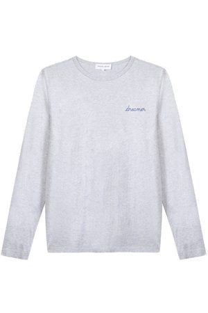 Maison Labiche Dreamer Long Sleeve Organic Cotton Top - Light Heather Grey