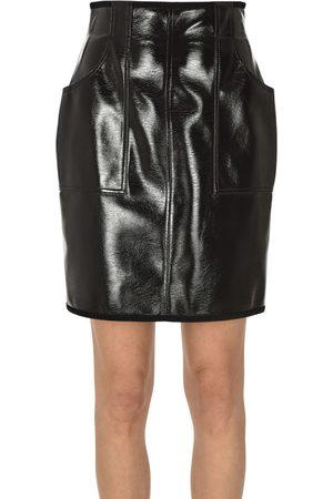 Philosophy di Lorenzo Serafini Vinyl mini skirt
